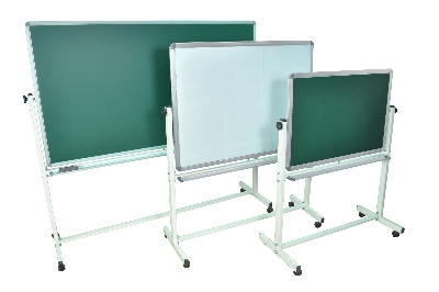 Luxor Furniture MB7240 Reversible Whiteboard & Chalkboard w/ 2-Magnetic Sides, 72 x 40-in