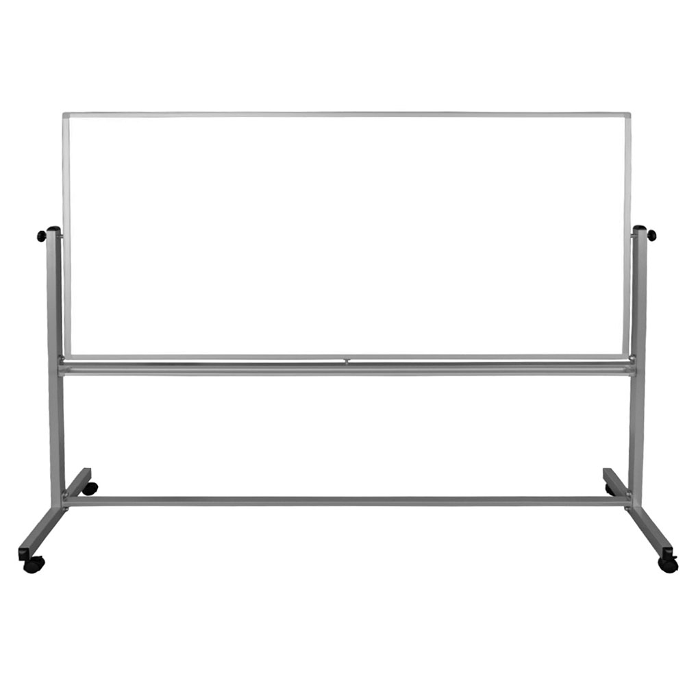 "Luxor Furniture MB9640WW Reversible Magnetic Whiteboard w/ Aluminum Frame, 96"" x 40"""