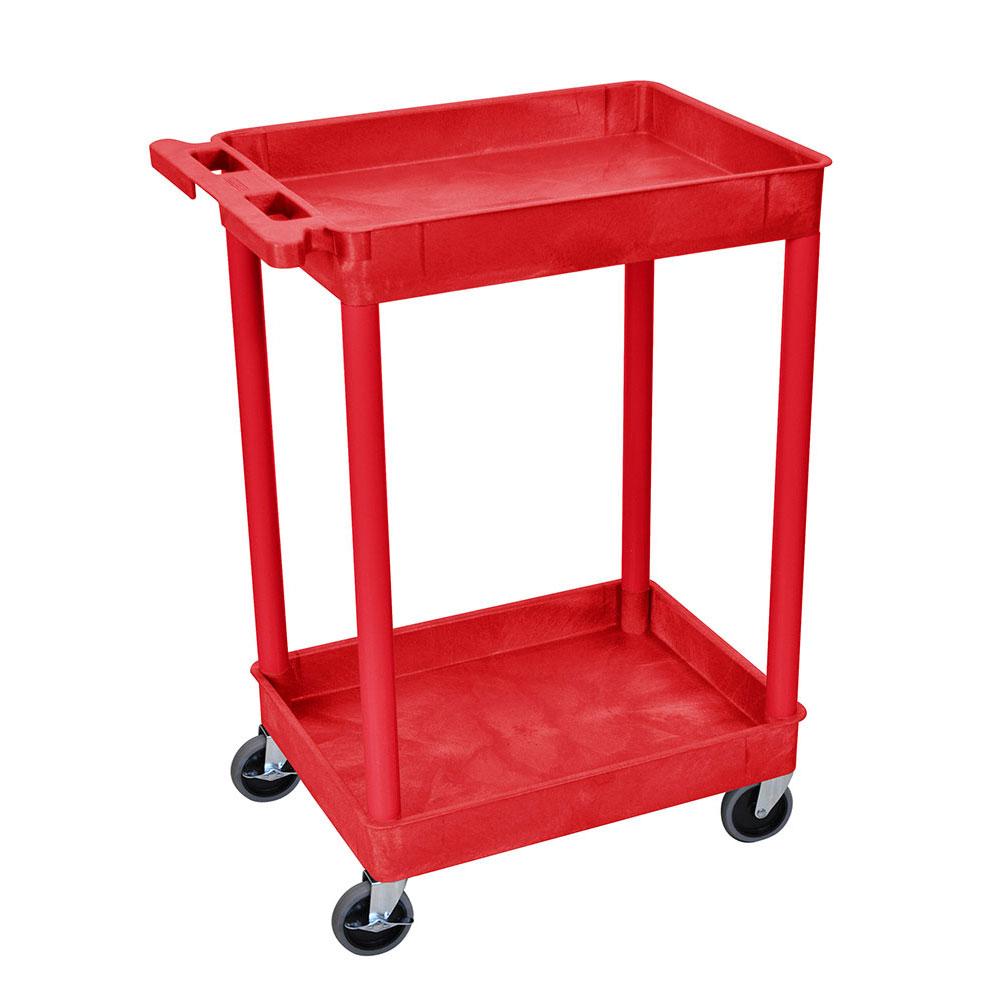 luxor RDSTC11RD 2-Level Polymer Utility Cart w/ 300-lb Ca...