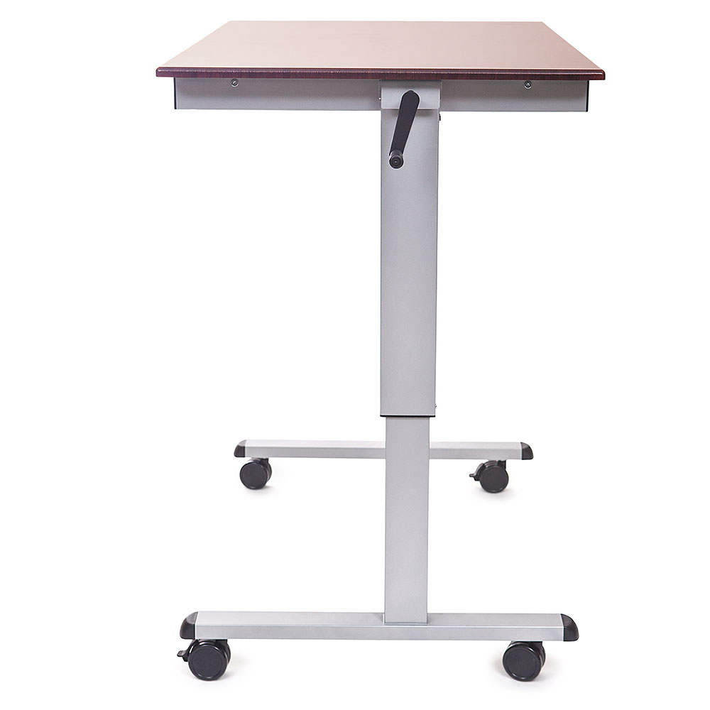 "Luxor Furniture STANDUP-CF48-DW Adjustable Stand-Up Desk w/ Laminate Work Surface, 48""W x 30""D"