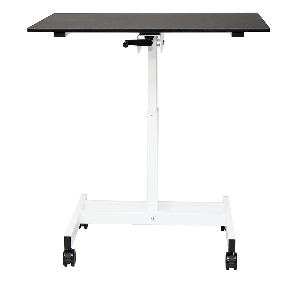 "Luxor Furniture STANDUP-SC40-WB 40"" Adjustable Standing Desk - White Frame w/ Black Surface"