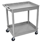 Luxor Furniture TC11-G 2-Tub Multi Purpose Cart w/ Integrated Handle, 32 x 24-in, Gray