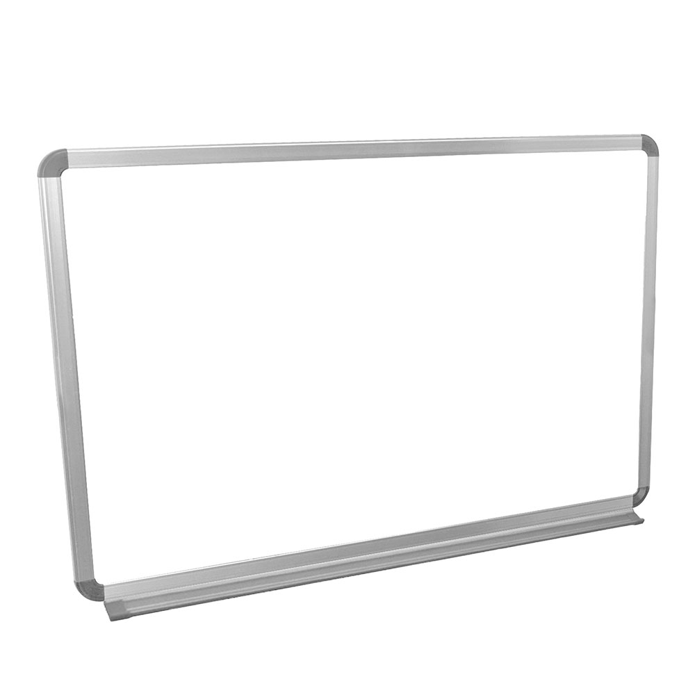 Luxor Furniture WB3624W 36x24-in Painted Steel Magnetic White Board w/ Aluminum Frame & Tray