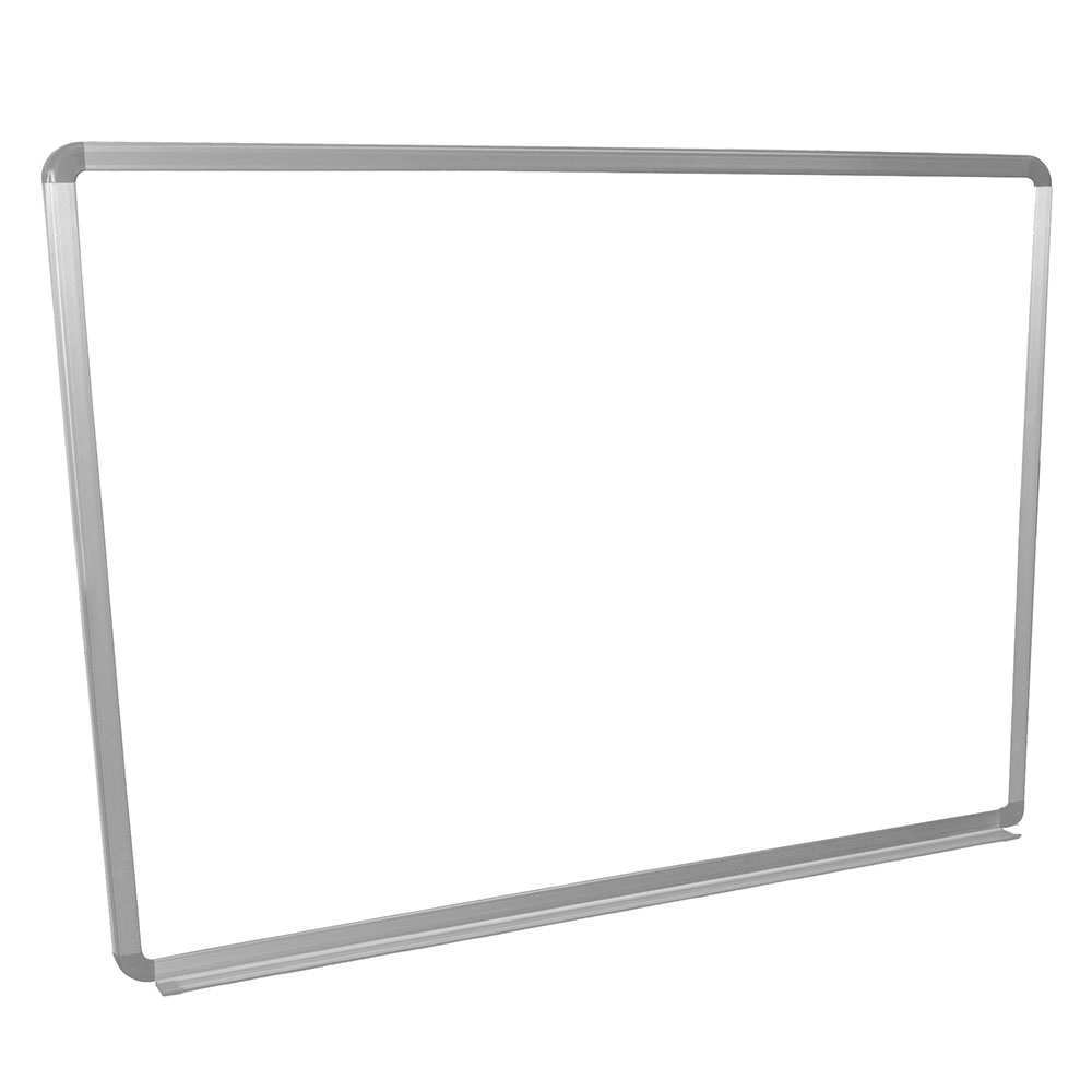 Luxor Furniture WB4836W 48x36-in Painted Steel Magnetic White Board w/ Aluminum Frame & Tray