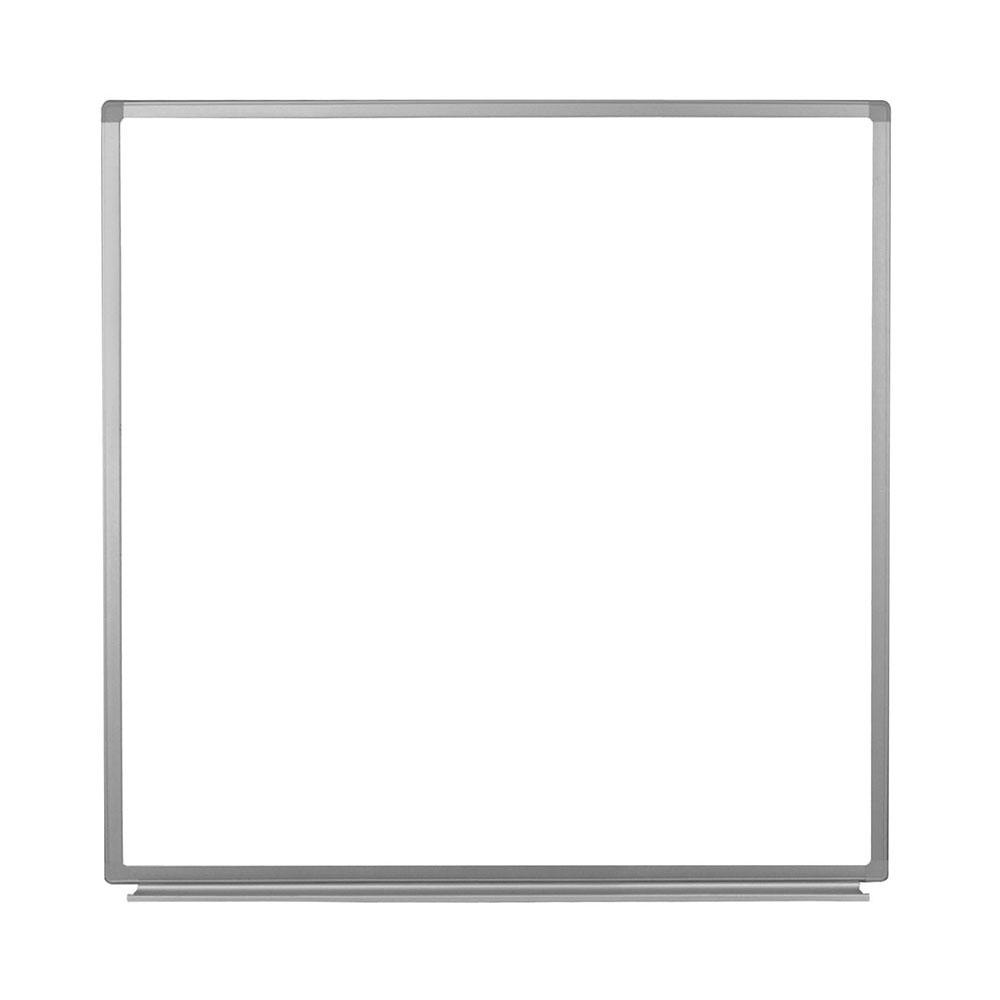 luxor WB4848W 48 Square Wall-Mounted Whiteboard w/ Alumin...