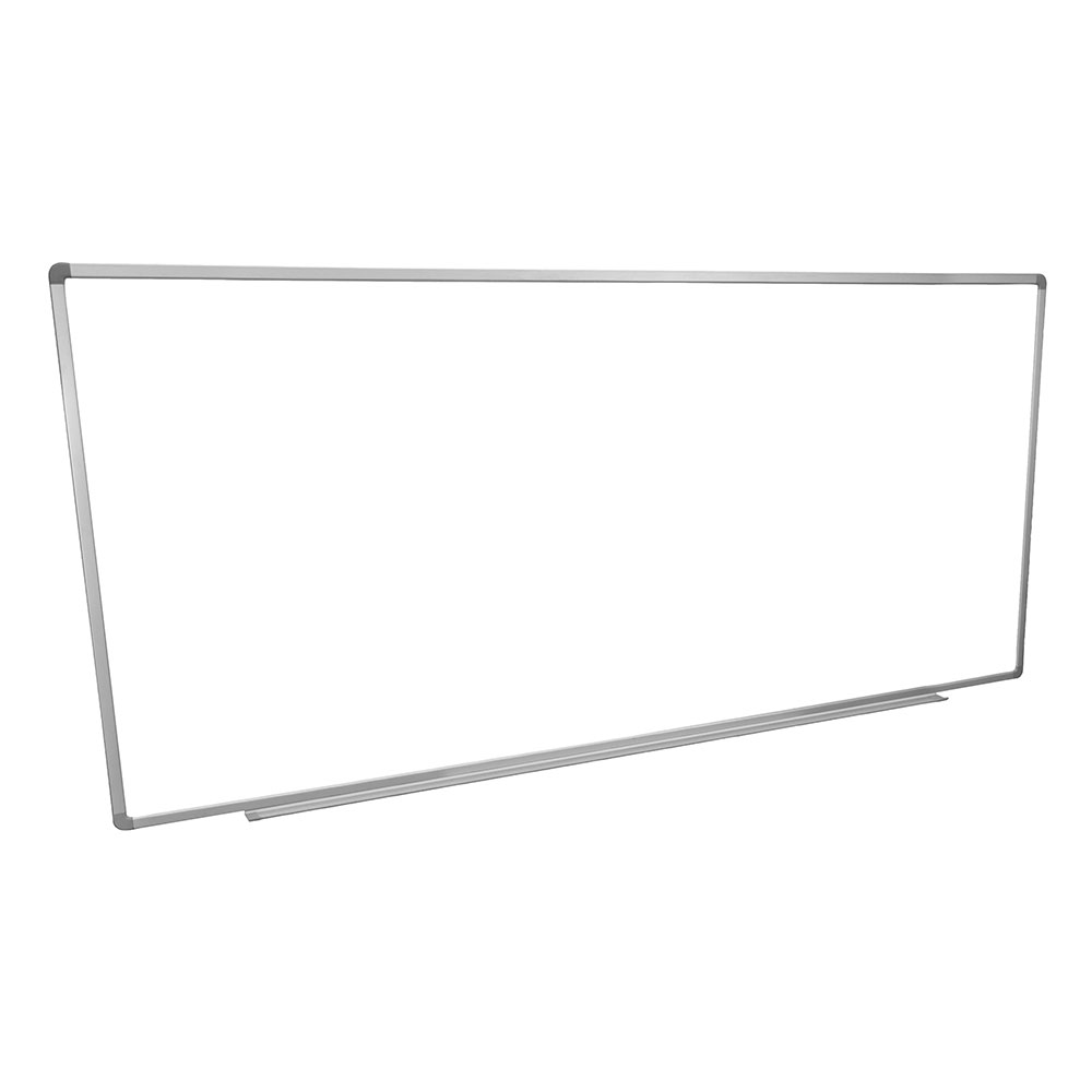 Luxor Furniture WB9640W 96x40-in Painted Steel Magnetic White Board w/ Aluminum Frame & Tray