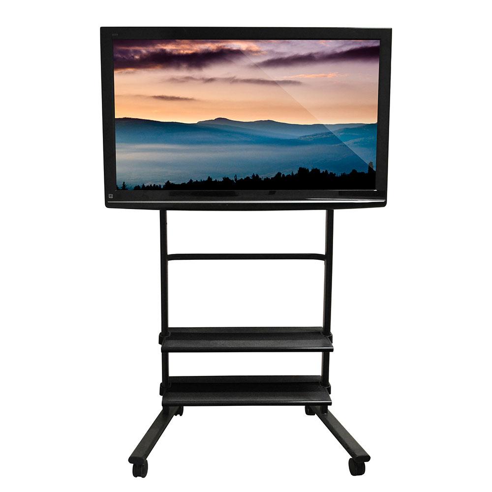 "Luxor Furniture WFP200-B Universal LCD/Flat Panel TV Cart, 38.75x27.75x61.25"""