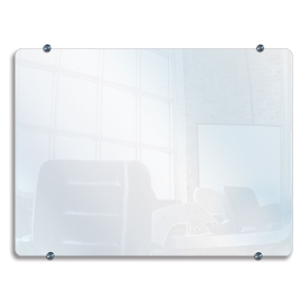 "Luxor Furniture WGB4030 Wall-Mounted Marker Board - 40x30"" Tempered Glass"