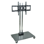 Luxor Furniture WPSMS62CH-4 Mobile Flat Panel TV Stand & Mount, Accomodates to 60-in, Black Base