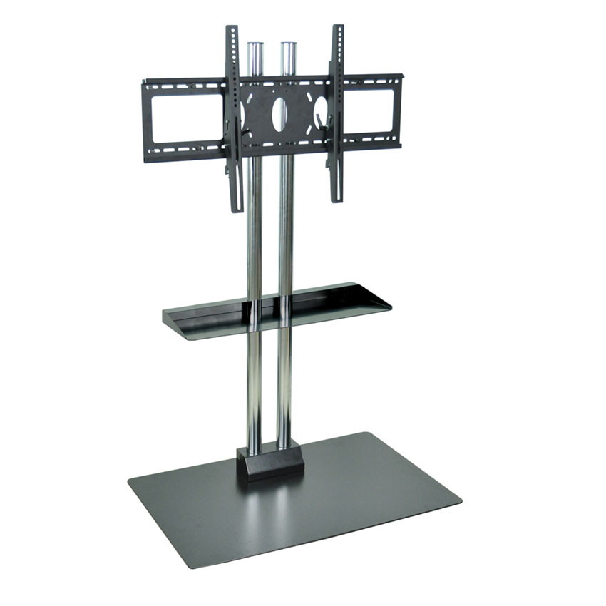 "Luxor Furniture WPSMS62SCH Stationary Flat Panel TV Stand & Mount w/ Shelf, Accomodate to 60"", Black Base"