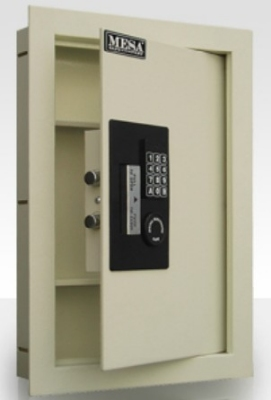 Mesa MAWS2113E .7-cu ft Wall Safe w/ Electronic Lock