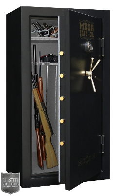 Mesa Safe MBF6032E Burglary/Fire Gun Safe - All Steel, Electronic Lock, 14.4cu ft, Black
