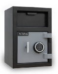Mesa MFL2014E BLKGR Depository Safe - All Steel, Electronic Lock, 0.8 cu ft Blk/Gry