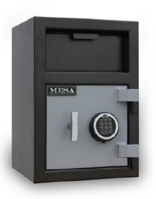Mesa Safe MFL2014K BLKGR Depository Safe, 20.5-in,  0.9-cu ft, Keyed Only, Black Grey