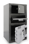 Mesa MFL2014E-OLK BLKGR 1.5-cu ft 2-Compartment Drop Safe w/ Electronic Lock