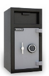 Mesa MFL2714E BLKGR Depository Safe - All Steel, Electronic Lock, 1.4 cu ft Blk/Gry