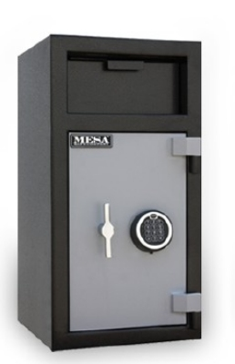 Mesa Safe MFL2714C BLKGR Depository Safe, 27.5-in, 1.5-cu ft, Combination, Black Grey
