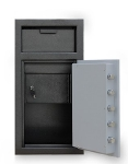 Mesa MFL2714C-ILK BLKGR Depository Safe, 27.25-in, 1.3-cu ft, Combination/Keyed Lock, Black Grey