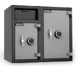 Mesa MFL2731EE BLKGR 6.7-cu ft 2-Compartment Drop Safe w/ Electronic Lock