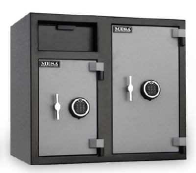 Mesa MFL2731EE BLKGR Depository Safe - All Steel, Electronic Lock, 6.7 cu ft Blk/Gry
