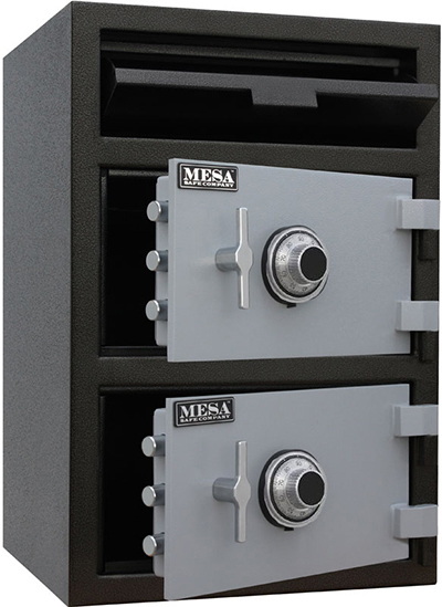 Mesa Safe MFL3020CC BLKGR Depository Safe - All Steel, Combination Lock, 3.6 cu ft, Blk/Gry