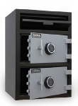 Mesa MFL3020EE BLKGR 3.6-cu ft 2-Compartment Drop Safe w/ Electronic Lock