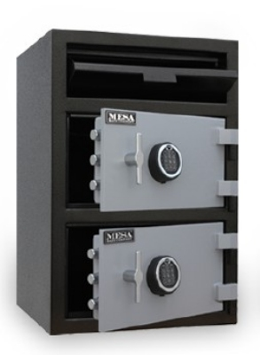 Mesa MFL3020EKK BLKGR Depository Safe - All Steel, Keyed Lock, 6.7 cu ft, Blk/Gry