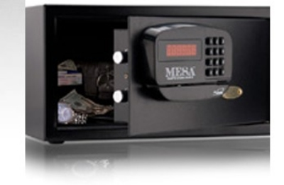 Mesa MHRC916EBLK Hotel Safe - All Steel, Electronic Lock, 1.2 cu ft, Blk