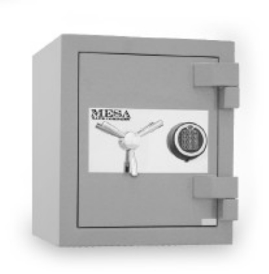 Mesa Safe MSC1916E High Security Safe - All Steel, Electronic Lock, 1.1 cu ft, Silver
