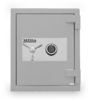 Mesa Safes Safes High Security Burglary Fire Safe3 cu ft21.5x16x15inSilverCombination Lock