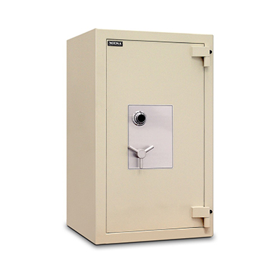 Mesa MTLE4524 High Security Safe - All Steel, Combination Lock, 12.5-cu ft, Buff Cream