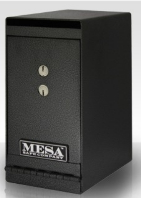 Mesa MUC1K Undercounter Safe, 12 x 6 x 8.75-in, Dual Key, Steel, Hammered Grey