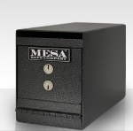 "Mesa MUC2K Undercounter Safe, 8 x 6 x 12.75"", Dual Key, Steel, Hammered Grey"