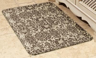 Wellness Mats 32SC105A Couture Pattern Decorative Mat Cover, 3 x 2-ft, Almond Mocha