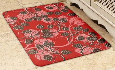 Wellness Mats 32SC112A Entwine Pattern Decorative Mat Cover, 3 x 2-ft, Hearth Mocha