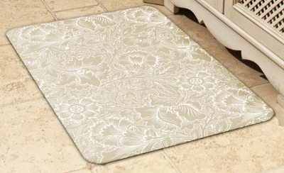 Wellness Mats 32SC113A Lefleur Pattern Decorative Mat Cover, 3 x 2-ft, Almond
