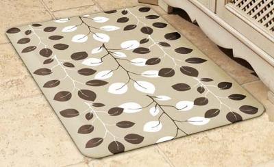 Wellness Mats 32SC117A Sweet Bay Pattern Decorative Mat Cover, 3 x 2-ft, Almond Mocha