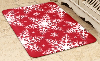 Wellness Mats 32SC121H Holiday Pattern Decorative Mat Cover, 3 x 2-ft, Snowflake-1