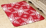 Wellness Mats 32SC122H Holiday Pattern Decorative Mat Cover, 3 x 2-ft, Snowflake-2