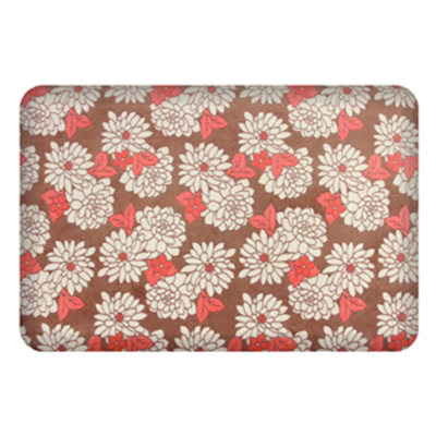 Wellness Mats P32SC214HK Seasons Cover for Wellness Mat w/ Non-Slip Bottom, Machine Washable, Mums Coral