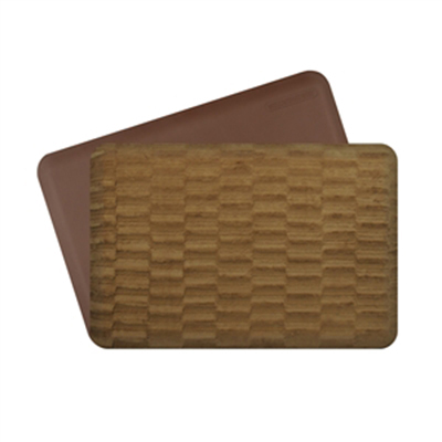 Wellness Mats P32WMRBRN212HV Wellness Mat & Season Cover Combo w/ No-Trip Edge, Sable Cappuccino