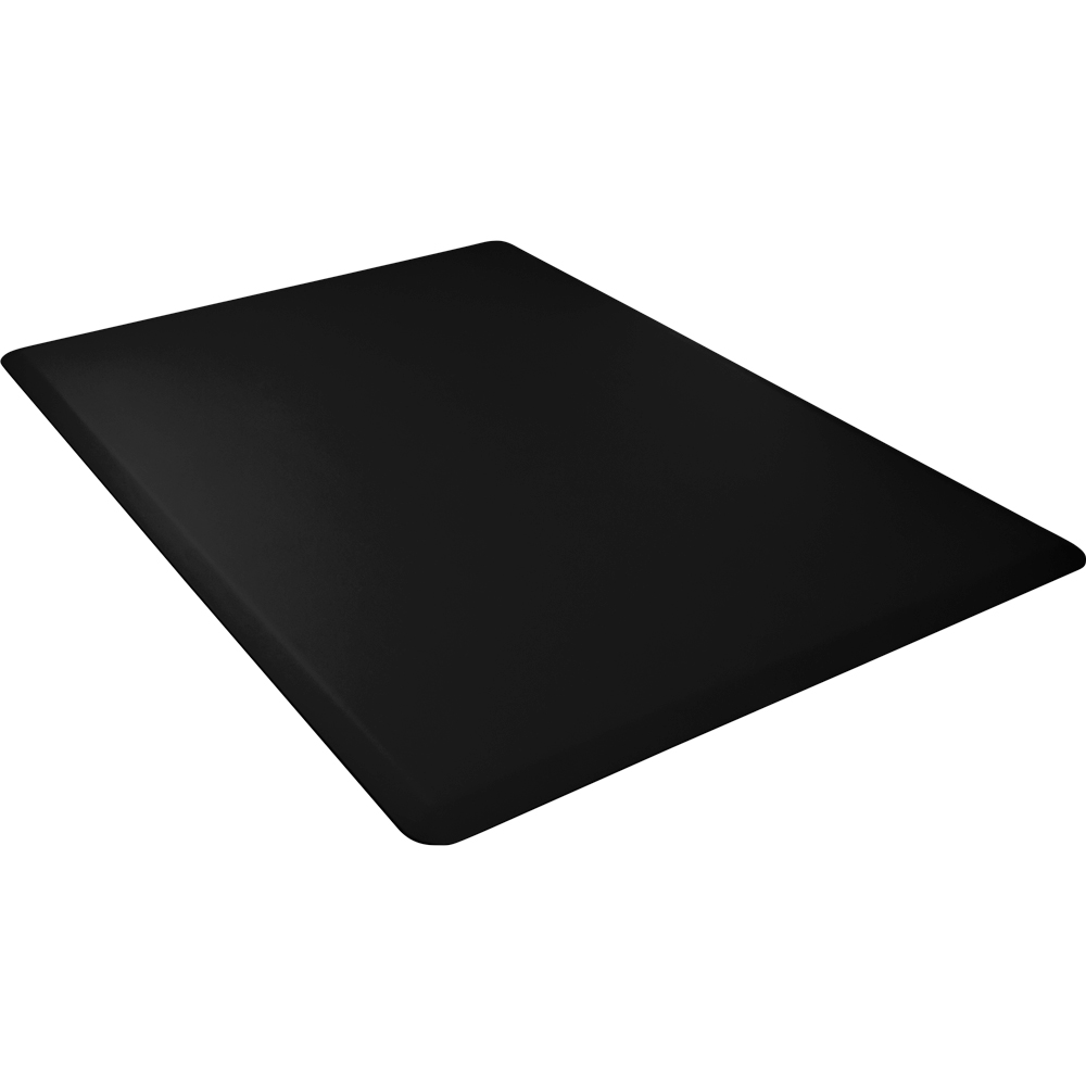 Wellness Mats 54WMRBLK High Comfort Mat, 5 x 4-ft, (APT) Poly, No-Slip, Black