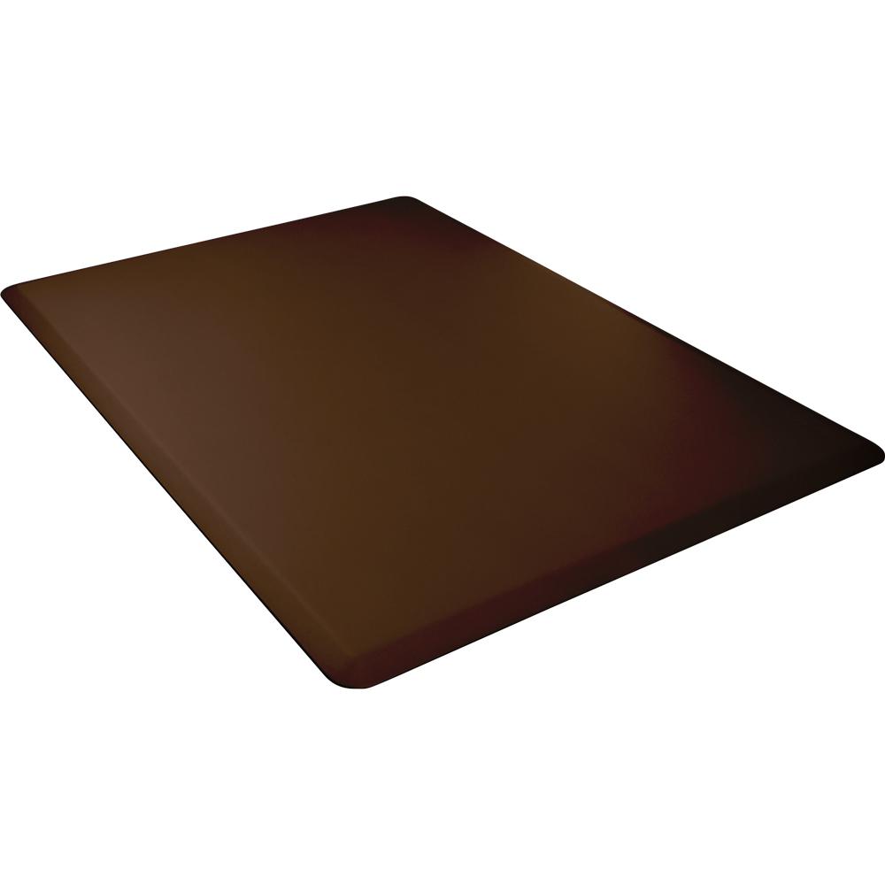 Wellness Mats 54WMRBRN High Comfort Mat, 5 x 4-ft, (APT) Poly, No-Slip, Brown