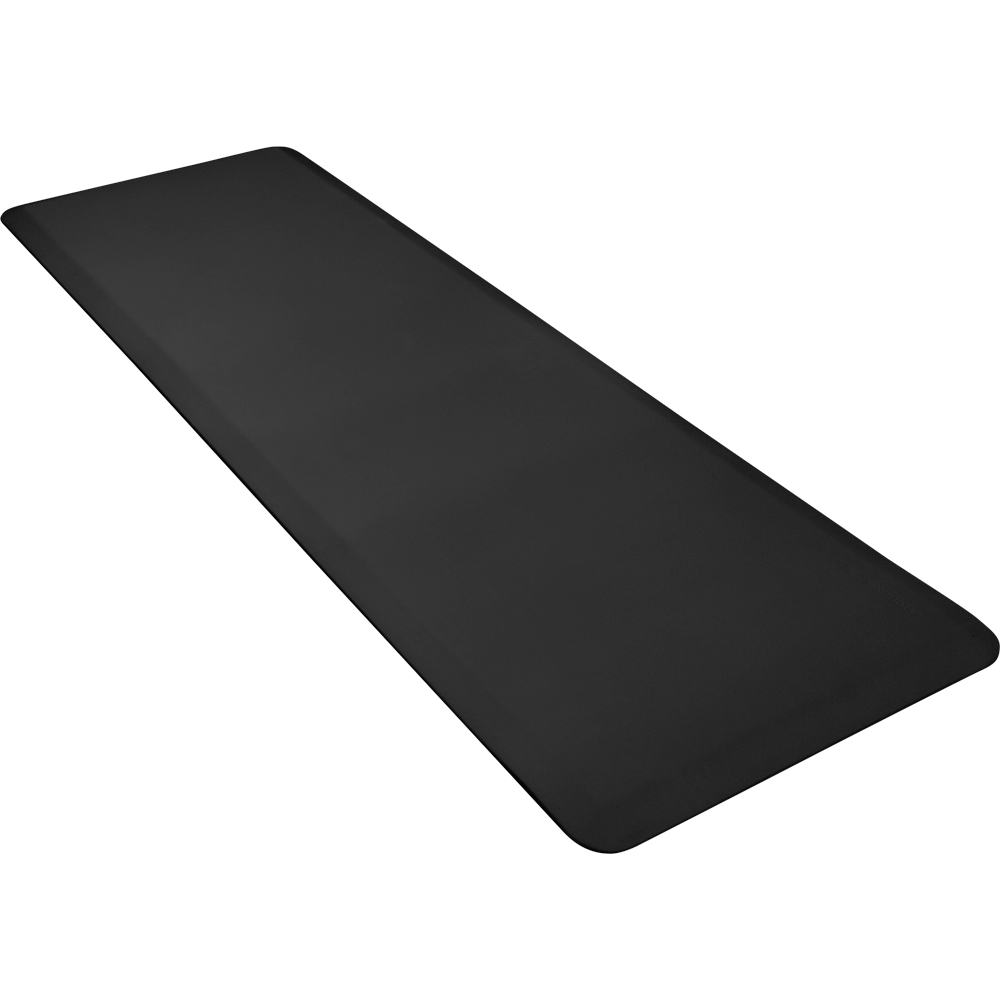 Wellness Mats 62WMRBLK High Comfort Mat, 6 x 2-ft, (APT) Poly, No-Slip, Black