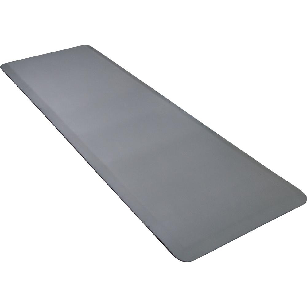 Wellness Mats 62WMRGRY High Comfort Mat, 6 x 2-ft, (APT) Poly, No-Slip, Gray