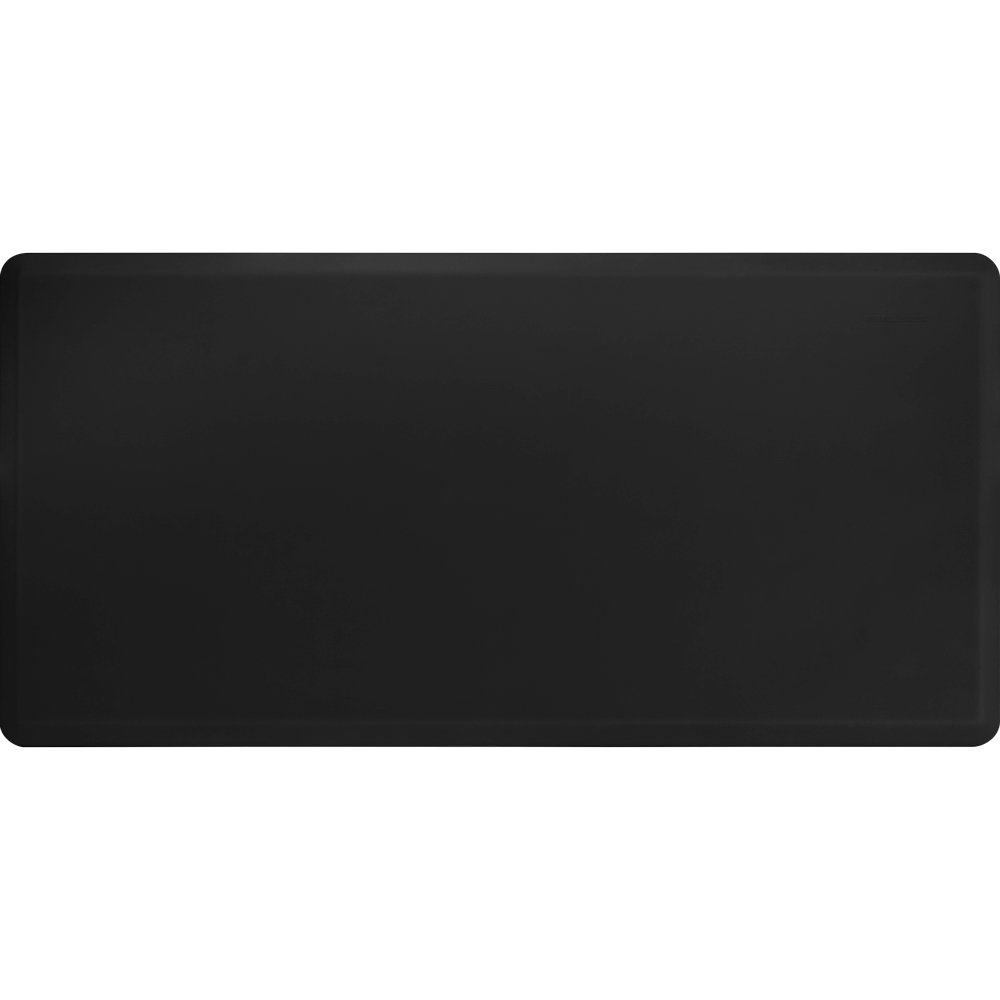 Wellness Mats 63WMRBLK High Comfort Mat, 6 x 3-ft, (APT) Poly, No-Slip, Black