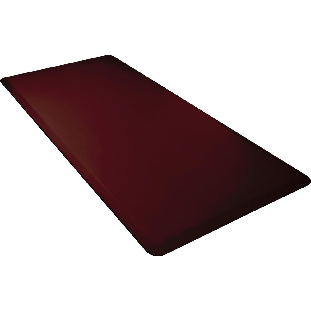 Wellness Mats 63WMRBUR Comfort Mat, 6 x 3-ft, (APT) Poly, No-Slip, Burgundy