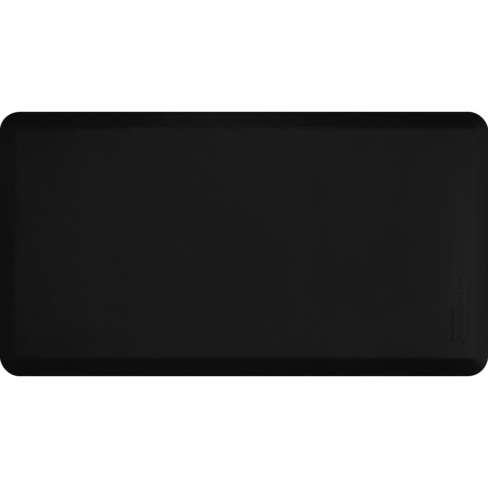 Wellness Mats FIT4BLK Fitness Mat w/ No-Trip Beveled Edge & Non-Slip Material, 4x2.16-ft, Black