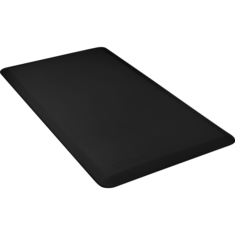 Wellness Mats FIT4BLK Fitness Mat w/ No-Trip Beveled Edge & Non-Slip Material, 4x2.16-ft, Black