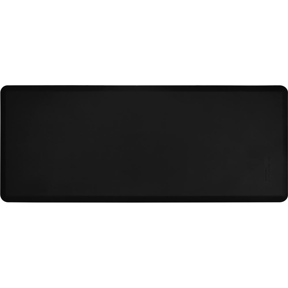 Wellness Mats FIT6BLK Fitness Mat w/ No-Trip Beveled Edge & Non-Slip Material, 6x2.5-ft, Black